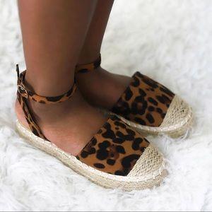Girls Leopard Espadrilles